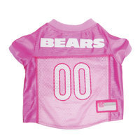 Doggie Nation.com Chicago Bears Pink Dog Jersey Small