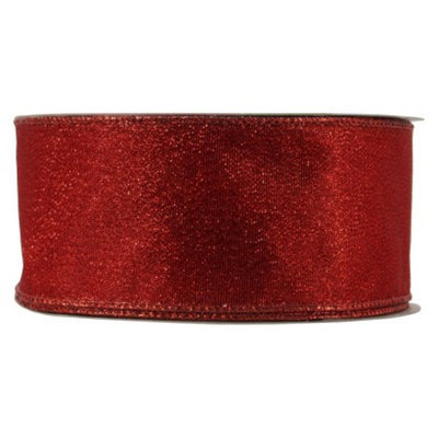 Holiday Red Shimmer Decorating Ribbon - 100Ft