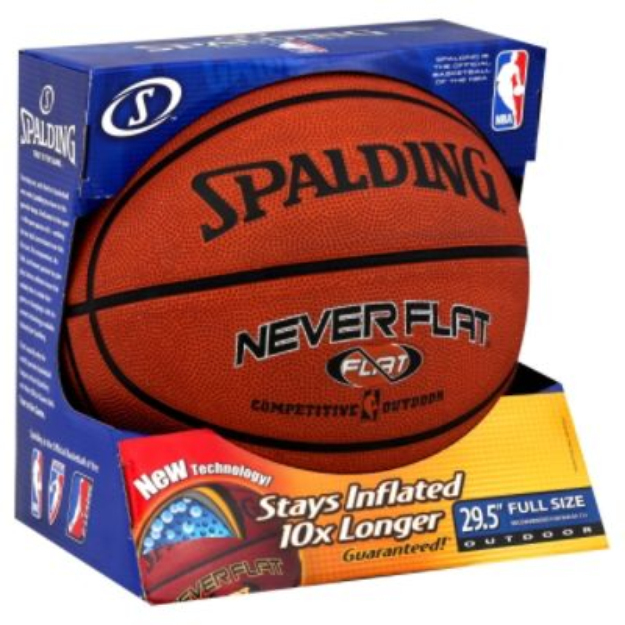 Spalding NBA Neverflat Competitive Outdoor Basketball (29.5)