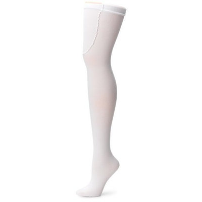 Ace Gold Anti-Embolism, Medium Compression 15-21mmHg, Thigh High Stocking, Closed Toe, White,Large,1-Pair Package