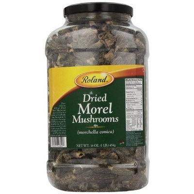 Roland Dried Morel Mushrooms, 16-Ounce Jar