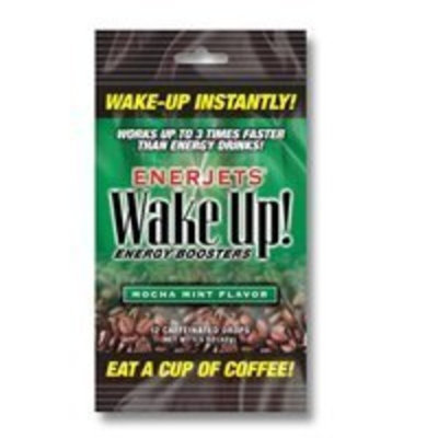 CHILTON LABS Enerjets Wake Up Energy Booster Drops, Mocha Mint Flavor - 12 Caffeinated Drops/Pack, 12 Packs