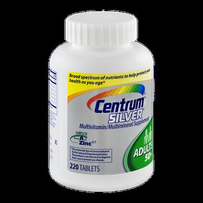 Centrum Sliver Multivitamin/Multimineral For Adults over 50 Supplement Tablets - 220 CT