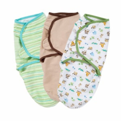 Summer Infant Swaddleme Cotton Knit, Small, Moms and Babies, Cappucino and Stripe, 3 ea