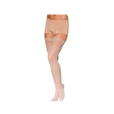 Sigvaris 780 EverSheer 20-30 mmHg Women's Closed Toe Thigh High Sock Size: M2, Color: Suntan 36