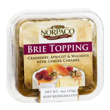 Norpaco Brie Topping Cranberry, Apricot & Walnuts with Ginger Caramel