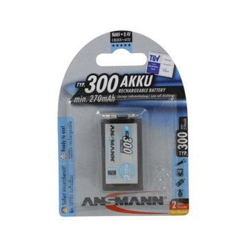 Ansmann 5035453 Ansmann 9V 300 mAH rechargeable batteries by Ansmann