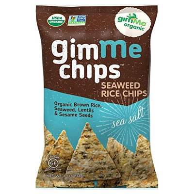 GimMe Organic Seaweed Rice Chips Sea Salt 4 oz