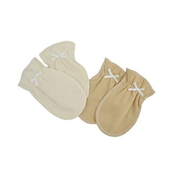 American Baby Company TL Care Organic Cotton Mittens, Natural, 0-3 Months