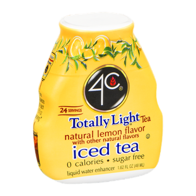 4C Totally Light Tea Natural Lemon Flavor Liquid Water Enhancer - 24 Servings