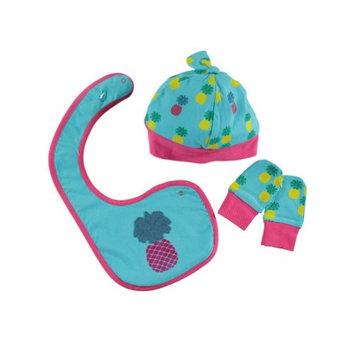 Rockin' Baby Turquoise Pineapple Cozy Bib Set