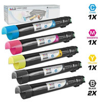 LD Compatible Xerox Phaser 6700 Set of 5 Toner Cartridges: 2 HY Black 106R01510, 1 HY Cyan 106R01507, 1 HY Magenta 106R01508 and 1 HY Yellow 106R01509