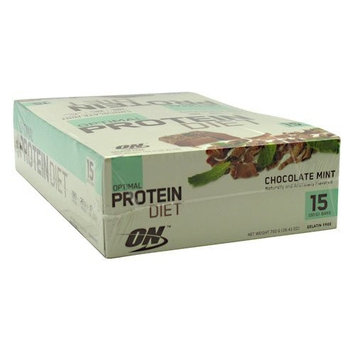 Optimum Nutrition Optimal Protein Diet Bar Chocolate Mint - 15 - 50g Bars 750g (26.41 oz)