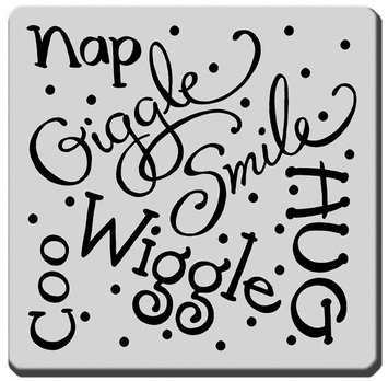 Stampendous Inc Stampendous Cling Rubber Stamp-Giggle Wiggle