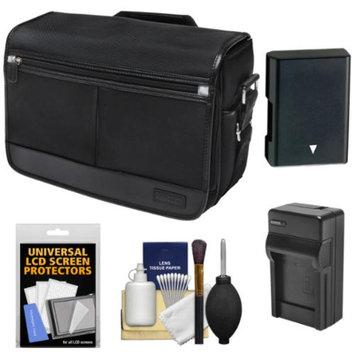 Nikon DSLR Camera/Tablet Messenger Shoulder Bag with EN-EL14 Battery & Charger + Kit for Df, D3100, D3200, D3300, D5100, D5200, D5300