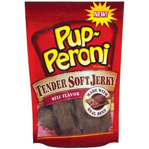 Pupperoni Pup-Peroni Tender Soft Jerky Beef Flavor, 4.8-Ounce (Pack of 4)