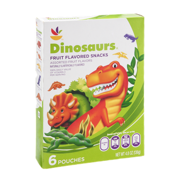 Ahold Fruit Snacks Dinosaurs - 6 CT