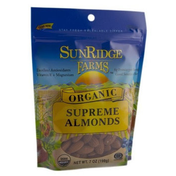 Sunridge Farms Organic Supreme Almonds, 6-Ounce Bags (Pack of 6)