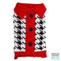 Martha Stewart PetsA Houndstooth Barn Sweater