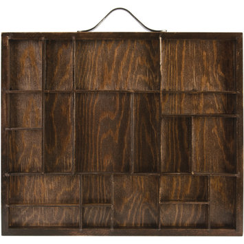 7 Gypsies Artist Letterblock Tray 12 X10 - Stained Brown, Holds Assorted Sizes