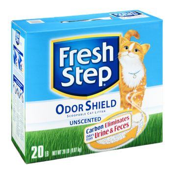 Fresh Step Odor Shield Scoopable Cat Litter Unscented