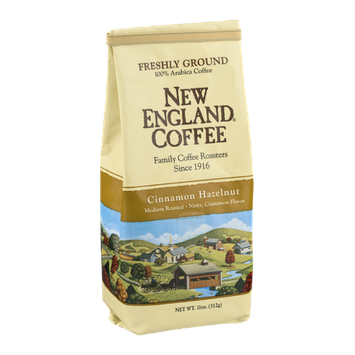 New England Coffee Cinnamon Hazelnut Medium Roasted Freshly Ground