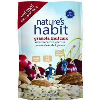 Nature's Habit Granola Trail Mix with Cranberries, Cherries, Raisins, Almonds and Pecans, 4-Ounce Pouches (Pack of 12)