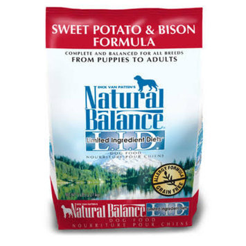 Dry Dog Food: Natural Balance Limited Ingredient Diets Sweet Potato and Bison Dry Dog Food Size: 5-lb Bag