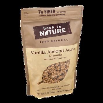 Back to Nature Vanilla Almond Agave 100% Natural Granola