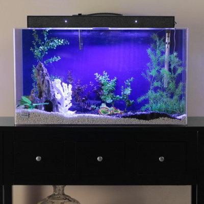 Advance Aqua Tanks Clear For Life Rectangle Aquarium Black, Size: 90-Gal (48L x 18W x 24H in.)