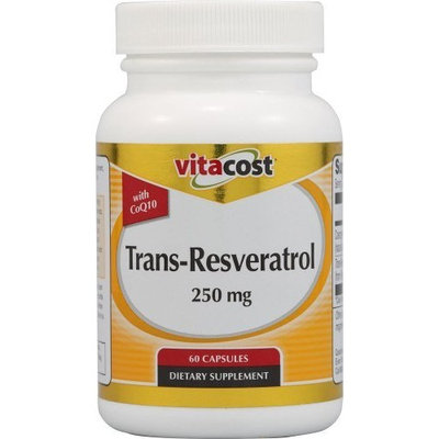 Vitacost Brand Vitacost Trans-Resveratrol with CoQ10 -- 250 mg/ 100 mg - 60 Capsules