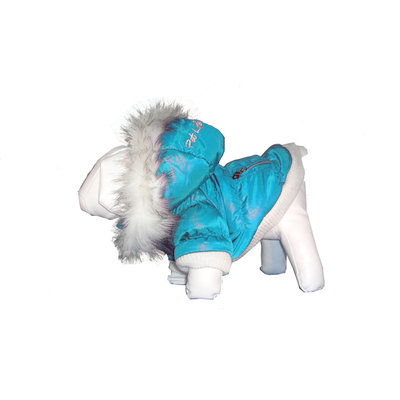 David Shaw Silverware Na Ltd Pet Life Metallic Parka with Removeable Hood Extra Small Blue - David Shaw Silverware NA LTD