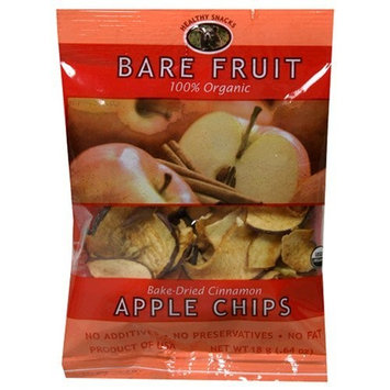 Bare Fruit 100% Organic Bake-Dried Cinnamon Apple Chips, 0.64-Ounce Pouches (Pack of 24)