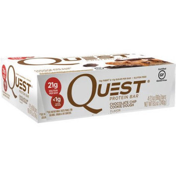 Quest Nutrition Quest Chocolate Chip Cookie Dough Flavor Protein Bars, 2.1 oz, 4 count