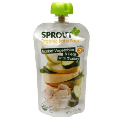 Sprout Stage 3, Market Vegetables & Pear with Turkey, 4.5 oz