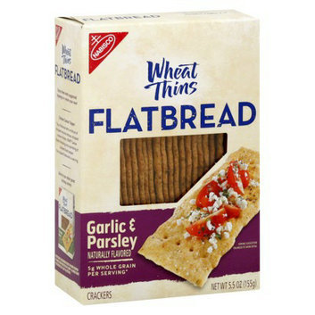 Wheat Thins Nabisco  Flatbread Garlic & Parsley Crackers 5.5 oz