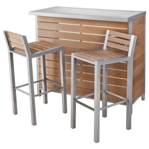 Outdoor Patio Furniture Set: Threshold Wood Bar, Bryant Collection