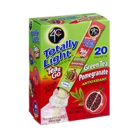 4C Totally Light Sugar Free Tea 2Go Green Tea Pomegranate Antioxidant Drink Mix - 20 CT