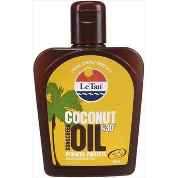 Le Tan 5501 Coconut Oil 30 Plus Bottle 125 ml. 4 Pack