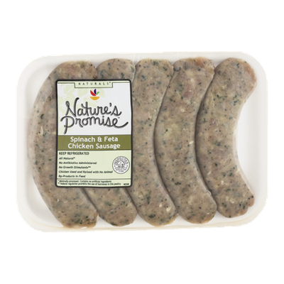 Nature's Promise Spinach & Feta Chicken Sausage