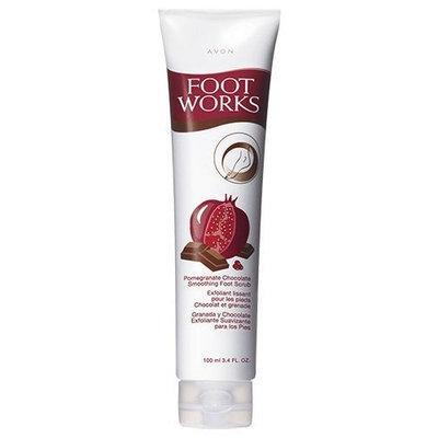 Avon Foot Works Smoothing Foot Scrub Pomegranate Chocolate 3.4oz.