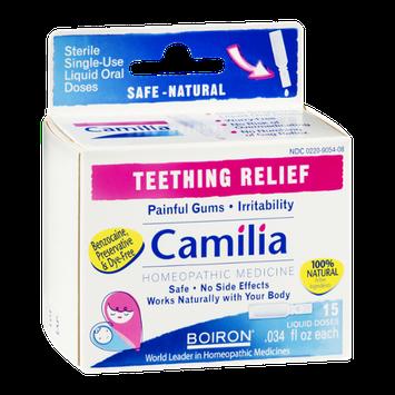 Boiron Camilia Teething Relief Liquid Doses - 15 CT
