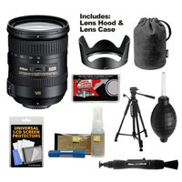 Nikon 18-200mm f/3.5-5.6G VR II DX ED AF-S Nikkor-Zoom Lens with Hood & Pouch Case + Tripod + Kit for D3200, D3300, D5200, D5300, D7000, D7100 DSLR Cameras