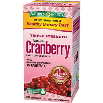 Nature's Bounty Triple Strength Natural Cranberry Fruit Concentrate Softgels