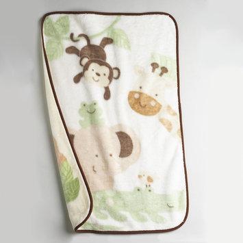 Nojo NoJo Newborn Boys Safari Baby Luxury Plush Throw - CROWN CRAFTS INFANT PRODUCTS, INC.