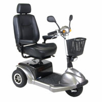Drive Medical Prowler 3-Wheel Mobility Scooter, Grey, 22 Inch Seat, 1 ea