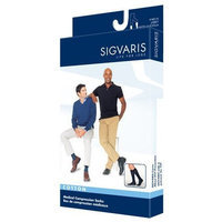 Sigvaris Men's Cotton Knee High 30-40mmHg Closed Toe Long Length, X-Large Long, Crispa