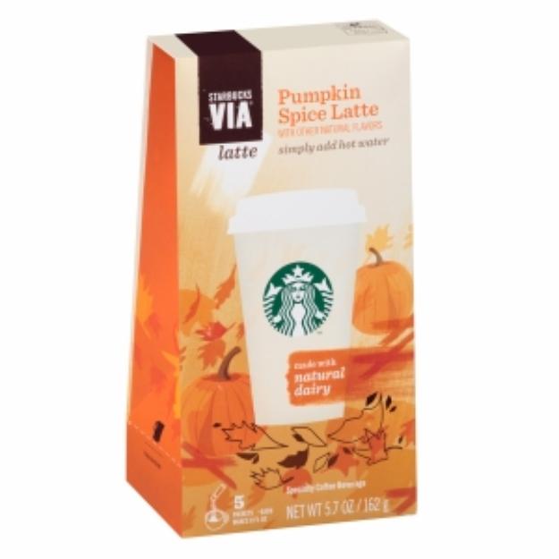 Starbucks Coffee Via Instant Coffee, Pumpkin Spice Latte, 5 ea
