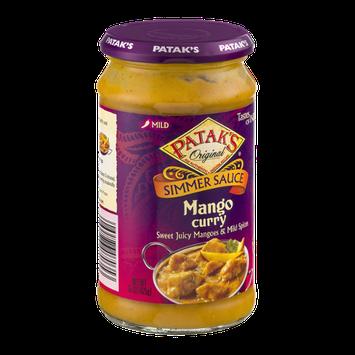 Patak's Original Simmer Sauce Mango Curry