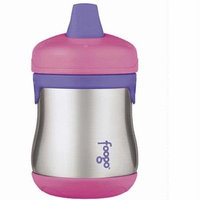 Thermos Foogo Leak-Proof SS 7 Ounce Sippy Cup, Pink, 9 Months (Discontinued by Manufacturer)